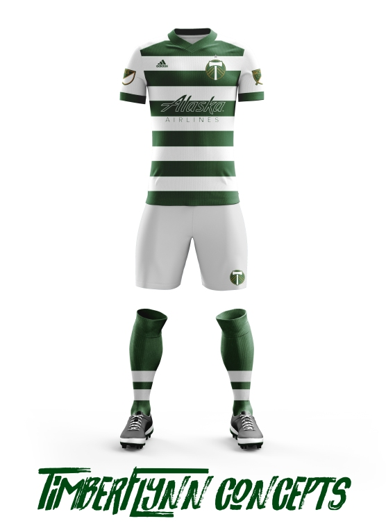 Green and White Hoops kit